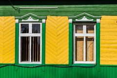 Window Belarus house stock photos