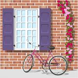 Window and bike 1 Royalty Free Stock Image