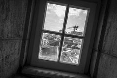Window. Black and white photo of window Stock Images