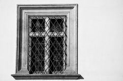 Window in Black and White, Prague Royalty Free Stock Photography