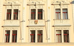 Window with blazons Royalty Free Stock Image