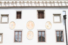 Window with blazons Royalty Free Stock Photos
