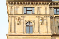 Window with blazons Stock Images