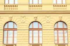 Window with blazons Stock Photo