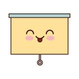 Window blind kawaii character. Vector illustration design Royalty Free Stock Photography