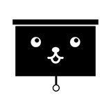 Window blind kawaii character. Vector illustration design Royalty Free Stock Image