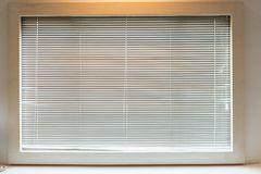 Window blinds in bedroom royalty free stock photos