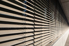 Window blinds. Detail view of closed window blinds royalty free stock image