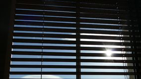 Window blinds 4K stock footage