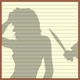 Window Blinds Killer Royalty Free Stock Image