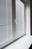 Window with blinds at office Stock Photography