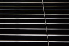 Window Blinds Pattern. Photograph of window blinds, angled view Royalty Free Stock Photos