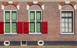 Window and blinds of a traditional dutch house in Alkmaar Stock Image
