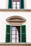 Window with blinds in urban house in Florence Royalty Free Stock Photo