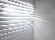 Window with blinds. Vector illustration. Stock Images