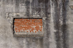 Window blocked by brick wall Stock Images