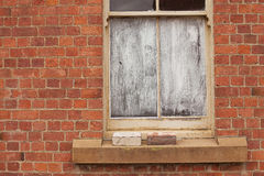 Window blocked out with white paint Royalty Free Stock Photography