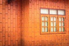 Window blockhouse orange Stock Photos