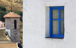 Window blue Royalty Free Stock Photography