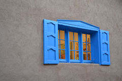 Window Blue Shutters Stock Photos