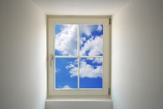 Window and blue sky Royalty Free Stock Images