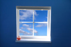 Window and blue sky royalty free stock photos