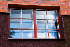 Window with blue sky reflection Stock Photos