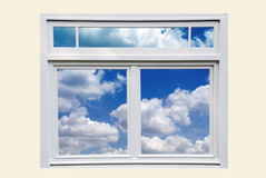 Window and Blue Sky Royalty Free Stock Photography