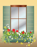 Window box stock illustration