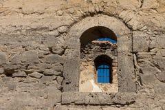 Window box. Old window on old wall Stock Image