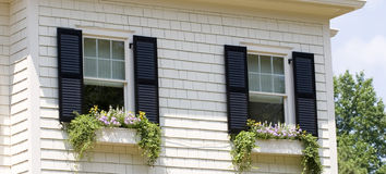 Window Boxes Royalty Free Stock Photography