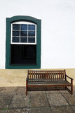 Window in Brazilian colonial style Royalty Free Stock Images