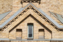 Window in a brick building royalty free stock photos