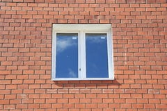 Window in brick new home Royalty Free Stock Image