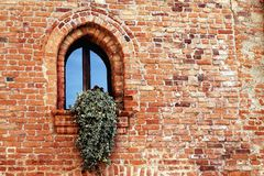 Window. Brick sill Middle Ages Royalty Free Stock Photos