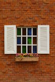 A window on a brick wall Stock Images