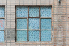 A window on the Brick wall background Royalty Free Stock Photography