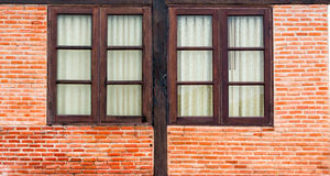 Window on a brick wall building Stock Photography