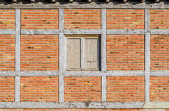 Window on a brick wall Royalty Free Stock Photography