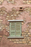 Window on a brick wall Royalty Free Stock Photos