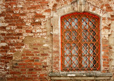 Window in a brick wall Royalty Free Stock Images