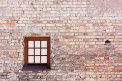 Window on brick wall Royalty Free Stock Images