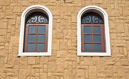 Window on brick wall. Stock Images