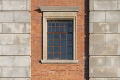 Window in brick wall Royalty Free Stock Images
