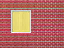 Window on brick wall Royalty Free Stock Photo