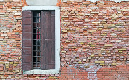 Window and bricks Royalty Free Stock Images