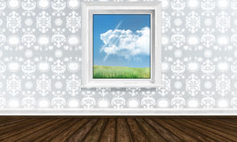 Window in Bright Interior Stock Photo