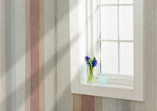 Window in a bright room Stock Images