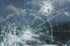 Window with broken glass Royalty Free Stock Photography