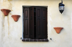 Window With Brown Shutters Stock Images